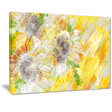 Yellow and Green Flower Art - Floral Canvas Artwork