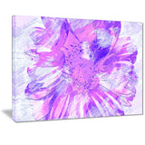 Purple Flower - Floral Canvas Artwork