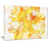 Yellow Flower - Floral Canvas Artwork