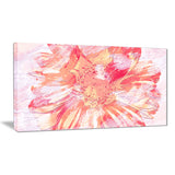 GrapeFruit Color Flower - Floral Canvas Artwork