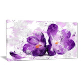Blooming Purple Flower - Floral Canvas Artwork