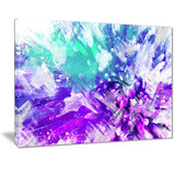 Hues of Blue Flower Art - Floral Canvas Artwork