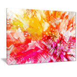 Vibrant Colors Flower Art - Floral Canvas Artwork