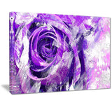 Purple Rose - Floral Canvas Artwork