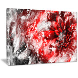 Modern Red and White Floral Art - Floral Canvas Artwork