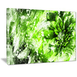 Modern Green and White Floral Art - Floral Canvas Artwork