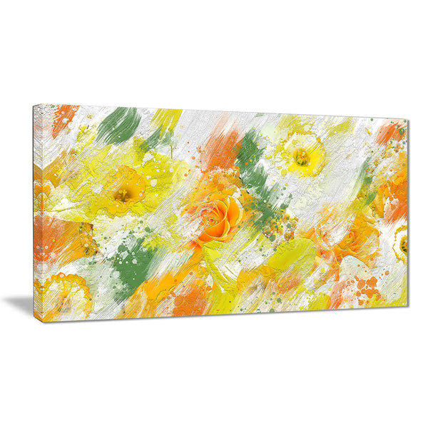 Abstract Daisies - Floral Canvas Artwork