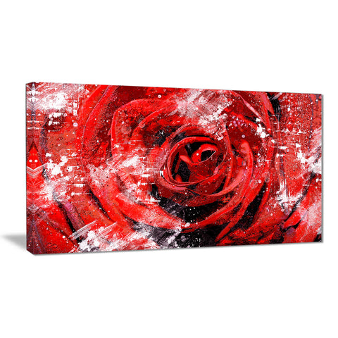 Center of the Rose - Floral Canvas Artwork