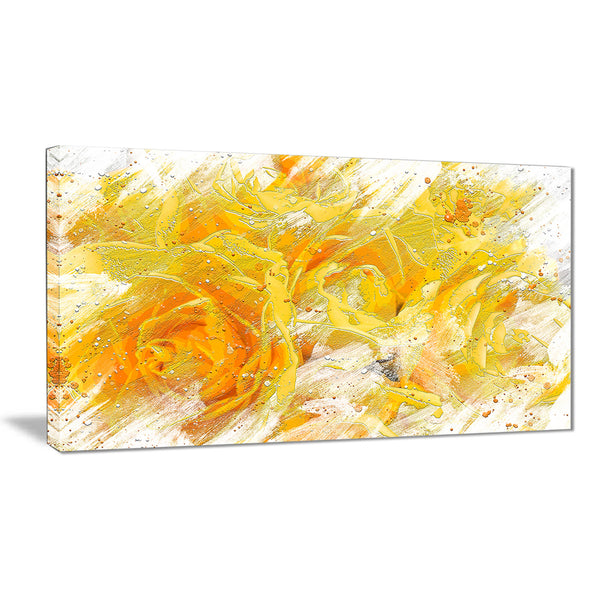 Yellow Tulips - Floral Canvas Artwork