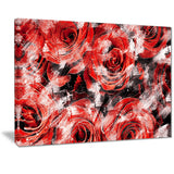 Red Rose Garden - Floral Canvas Artwork