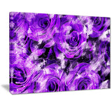 Purple Rose Garden - Floral Canvas Artwork