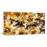 Yellow Rose Garden - Floral Canvas Artwork