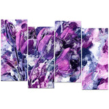 Shades of Purple Flowers - Floral Canvas Artwork