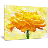 Yellow Rose - Floral Canvas Artwork