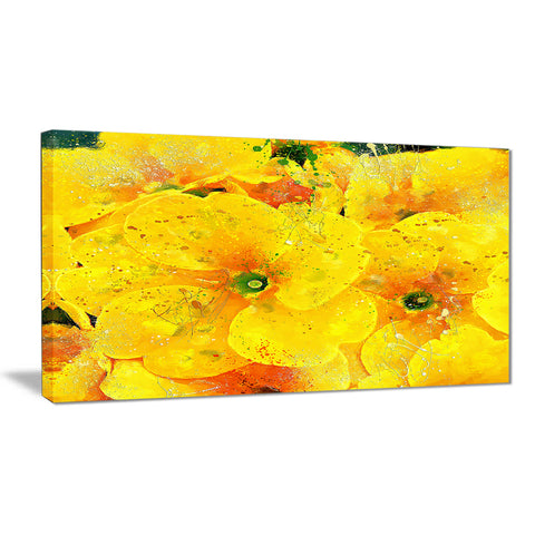 Bunch of Yellow Flowers - Floral Canvas Artwork