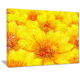 Yellow Thicket - Floral Canvas Artwork