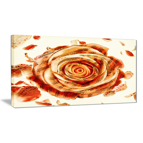 Musical Rose - Floral Canvas Artwork