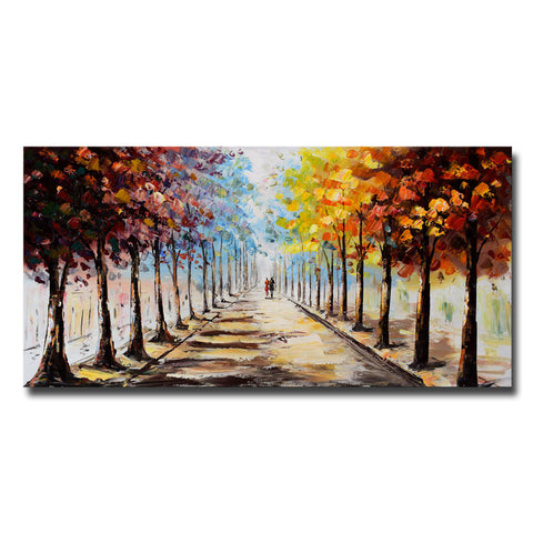 Landscape Forest Lets Go For A Stroll Landscape Canvas Art