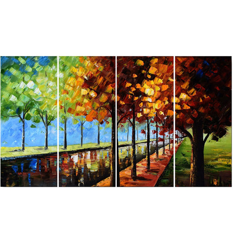 Large Landscape Wall Art - Trees Changing Colors - 48x28 In