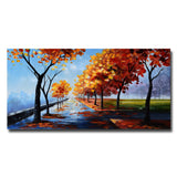 Landscape A Path In The Fall Landscape Canvas Art