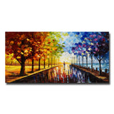 Landscape Trees A Walk Through Color Landscape Canvas Art