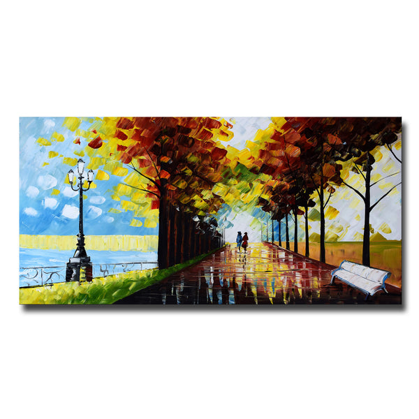 Landscape Trees Follow Your Path Landscape Canvas Art