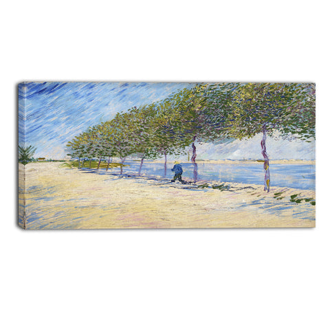 MasterPiece Painting - Van Gogh Walk Along the Banks of the Seine Near Asnieres