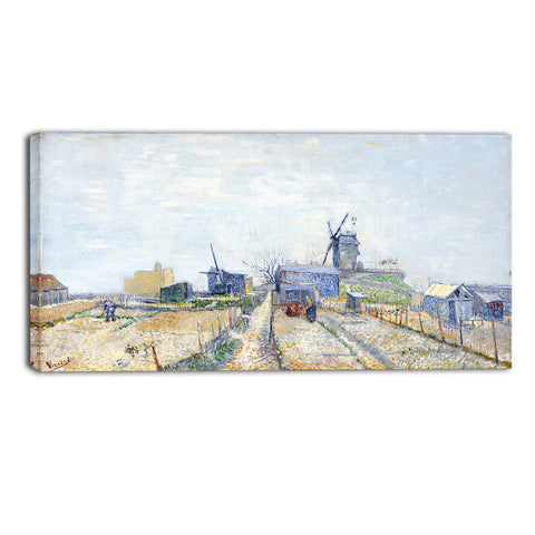 MasterPiece Painting - Van Gogh Vegetable Gardens in Montmartre: La Butte Montmartre