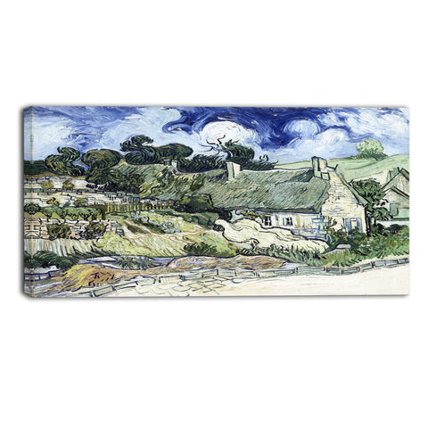 MasterPiece Painting - Van Gogh Thatched Cottages at Cordeville