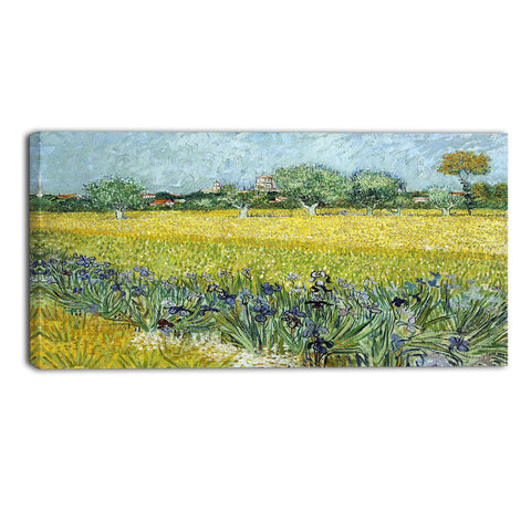 MasterPiece Painting - Van Gogh Field of Flowers near Arles