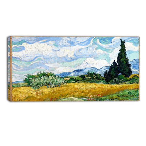 MasterPiece Painting - Van Gogh Wheat Field with Cypresses
