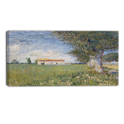 MasterPiece Painting - Van Gogh Farmhouse in a Wheat Field