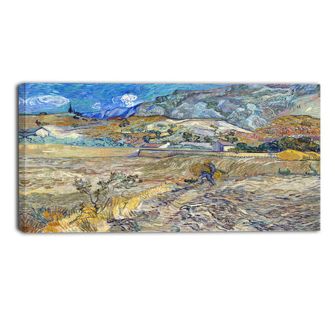 MasterPiece Painting - Van Gogh Landscape at Saint Remy