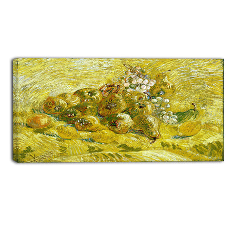 MasterPiece Painting - Van Gogh Still Life with Grapes, Pears and Lemons