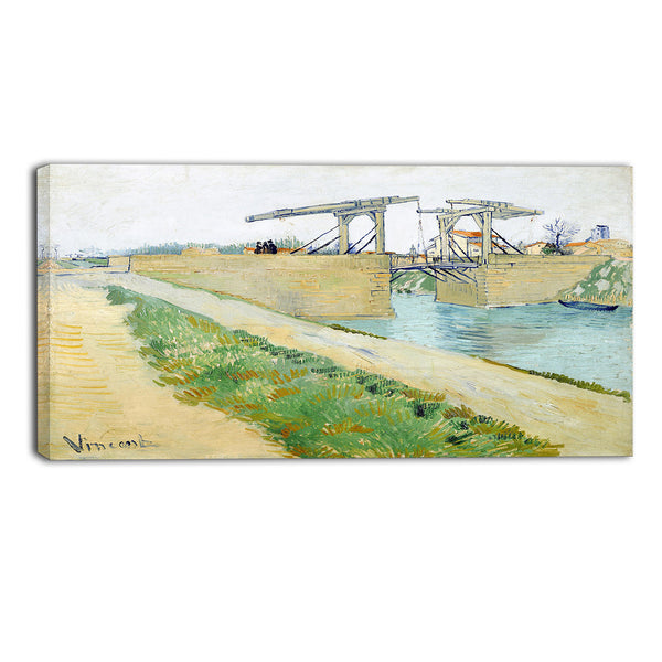 MasterPiece Painting - Van Gogh The Langlois Bridge at Arles with Road
