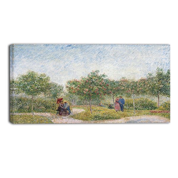 MasterPiece Painting - Van Gogh Garden in Montmartre with Lovers