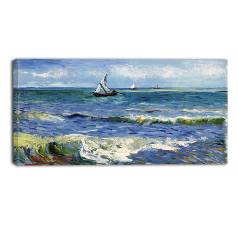 MasterPiece Painting - Van Gogh Seascape at Saintes