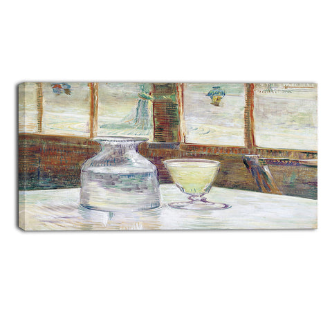 MasterPiece Painting - Van Gogh Still Life with Glass of Absinthe and a Carafe