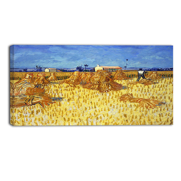 MasterPiece Painting - Van Gogh Corn Harvest in Provence