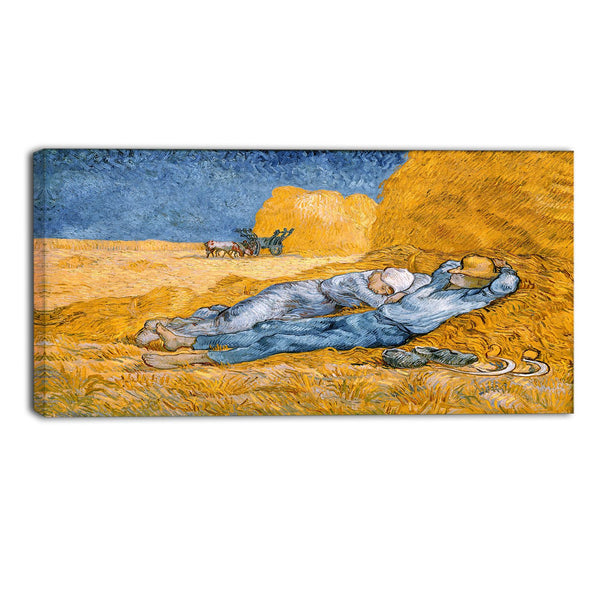 MasterPiece Painting - Van Gogh Noon Rest from Work (after Millet) or Siesta