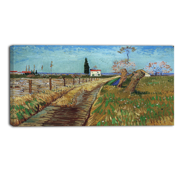 MasterPiece Painting - Van Gogh Path Through a Field with Willows