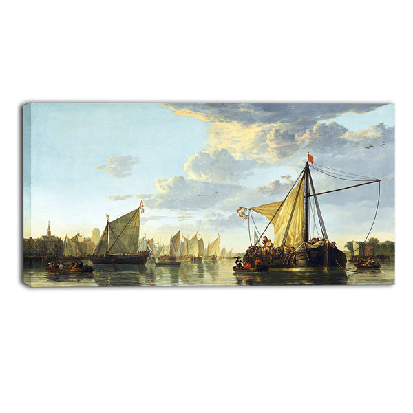 MasterPiece Painting - Aelbert Cuyp A View of the Maas at Dordrecht