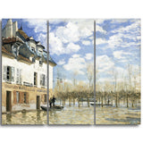 MasterPiece Painting - Alfred Sisley Boat in the Flood at Port Marly