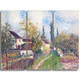 MasterPiece Painting - Alfred Sisley A path at Les Sablons