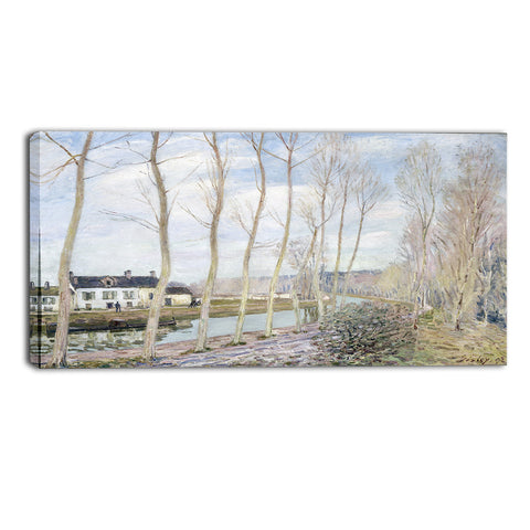 MasterPiece Painting - Alfred Sisley The Loing's Canal