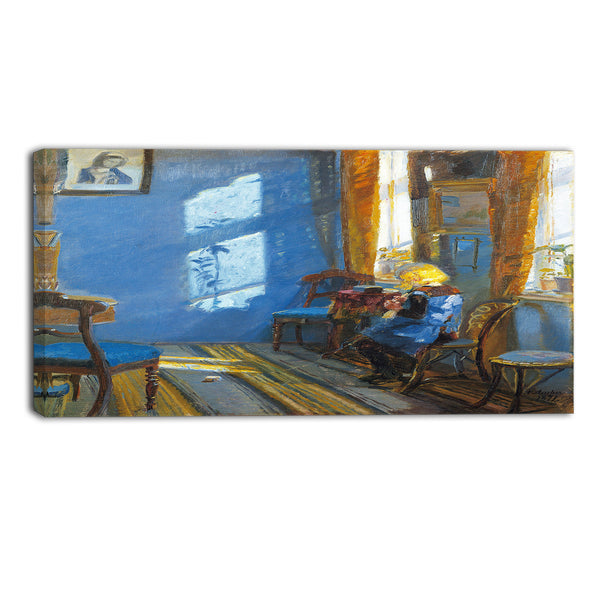 MasterPiece Painting - Anna Ancher Sunlight in the blue room