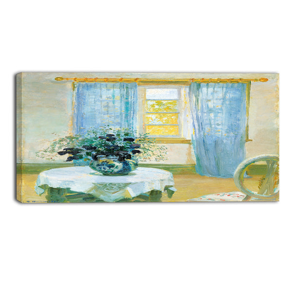 MasterPiece Painting - Anna Ancher Interior with clematis
