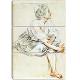 MasterPiece Painting - Antoine Watteau Seated Young Woman