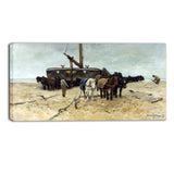 MasterPiece Painting - Anton Mauve Fishing boat on the beach