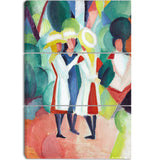 MasterPiece Painting - August Macke Three Girls in Yellow Straw Hats